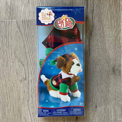 Elf Pets Playful Puppy PJs *Elf on the Shelf* Clothing Plaid Pajamas And Hat