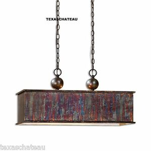 French country distressed copper kitchen island chandelier for French country kitchen chandelier