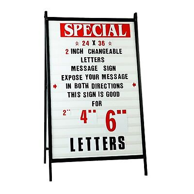 A Frame Sidewalk Signs Changeable Letters Message Outdoor Sign