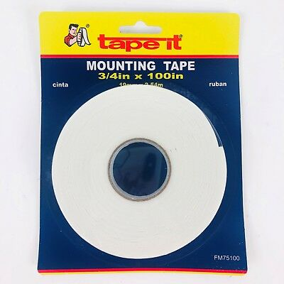Fm75100 Double Sided Tape Foam 34x 100 Tape It