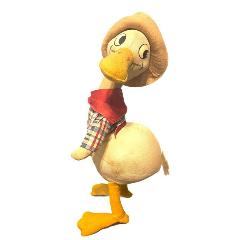 Antique 1930's-40's Donald Duck Knickerbocker Cowboy Doll/ Plush Toy - Disney