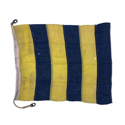 1940s Nautical Wool Signal Flag Vintage Maritime British Navy WWII Antique Old
