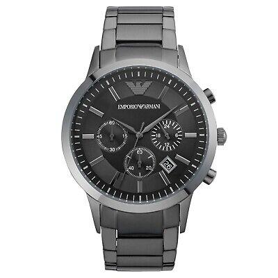 Emporio Armani Mens Chronograph Watch AR2454 Gunmetal Case and Strap