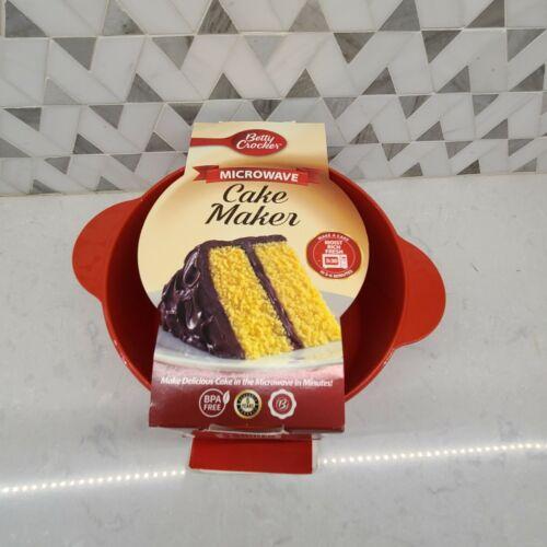 Betty Crocker Microwave Cake Maker Red BPA Free Plastic Easy Bake Kitchen Gadget