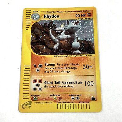 RHYDON Pokemon TCG Skyridge H27/H32 HOLO RARE e-Reader - PSA 9?