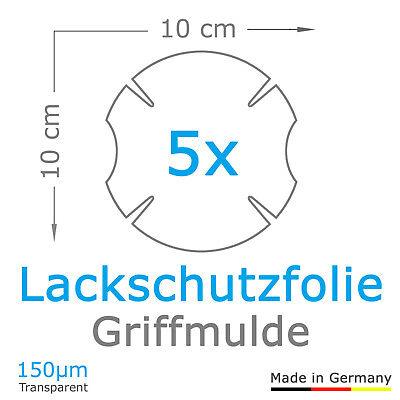 5x Türgriff Griffmulde Schutzfolie VW T5 / T6 / Bulli / Caddy