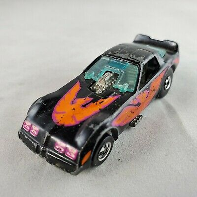 HOT WHEELS Firebird Funny Car Black Diecast - Kellogg's Mail-in (1986, Malaysia)