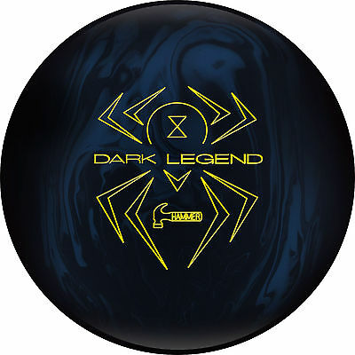 15 LB Hammer Black Widow Dark Legend SOLID Bowling Ball NIB 1st Quality