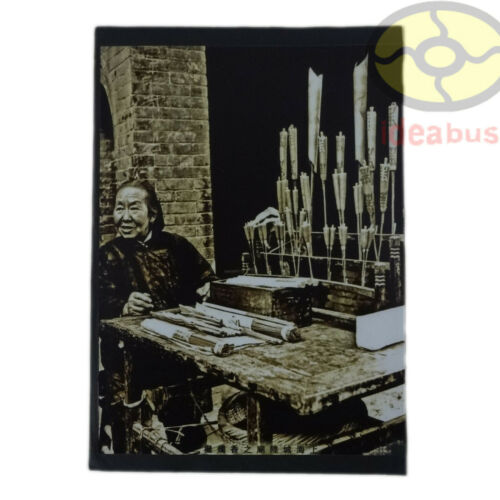 """Matted 8""""x6"""" old photographA Vendor Selling Incense Candles Shanghai China 1930s"""