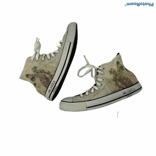 Converse Metallica High Tops mens 8 womens 10 AND JUSTICE FOR ALL L@@K!