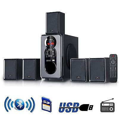 beFree Sound 5.1 Channel Surround Sound Home Theater Speaker System w/Bluetooth