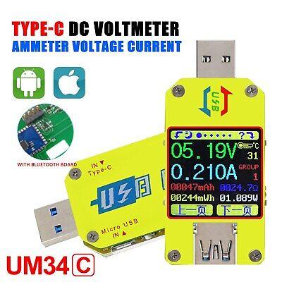 Ruideng Um34um34c For App Usb 3.0 Type-c Dc Voltmeter Ammeter Voltage Current