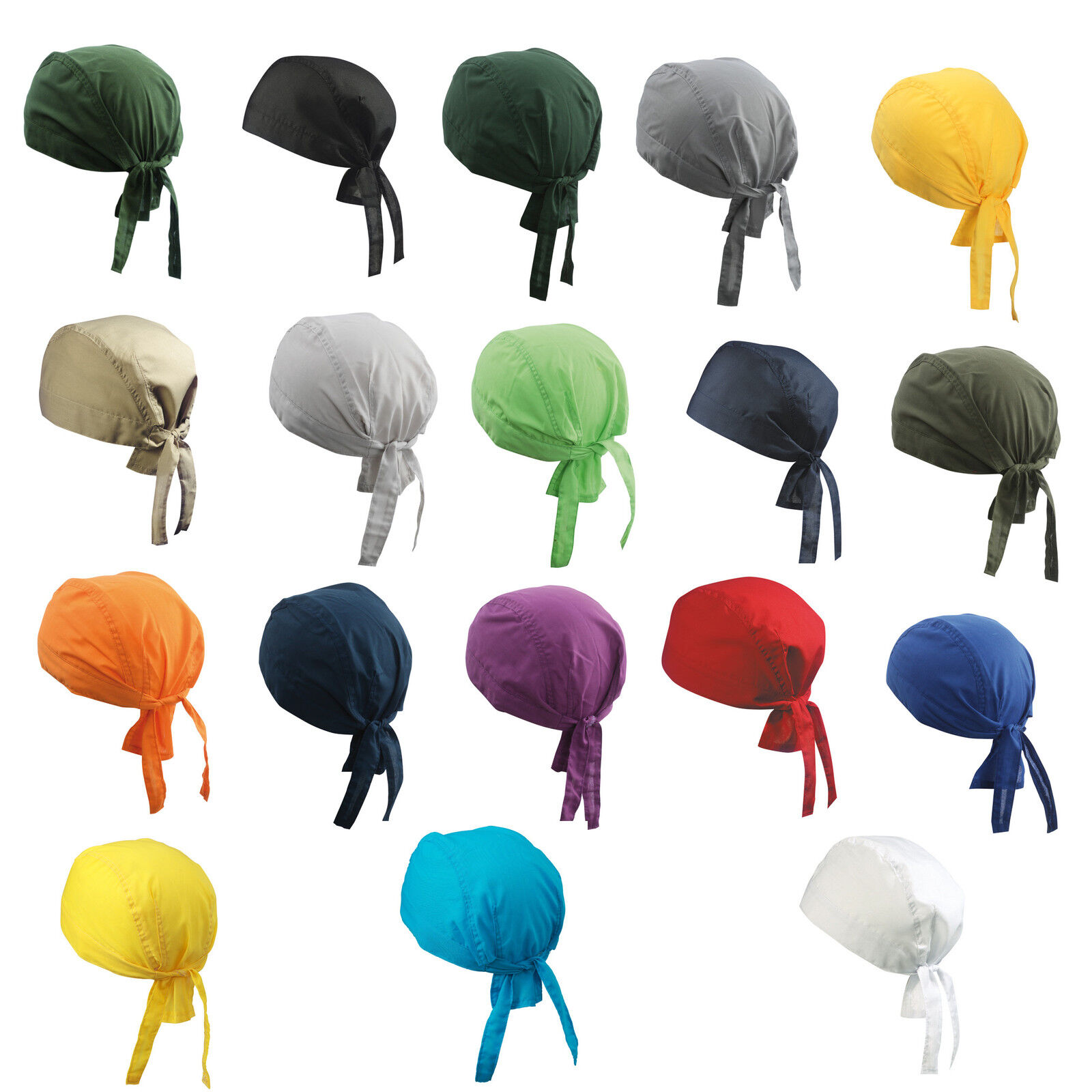 Bandana Hut Mütze Hat Kochbekleidung Kochen Kopftuch viele Farben