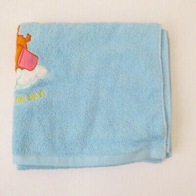Care Bears Tenderheart 2003 Blue Embroidered Have A Rainbow Day Bath -