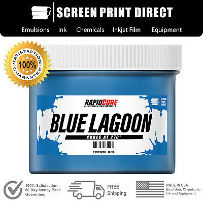 Blue Lagoon - Low Temperature Cure Plastisol Ink For Screen Printing - 8oz