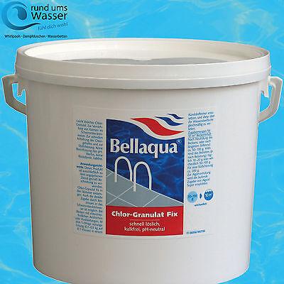 Bellaqua Chlor Granulat Fix 5kg Schnell löslich Pool Schwimmbad Chlorung Bayrol ()