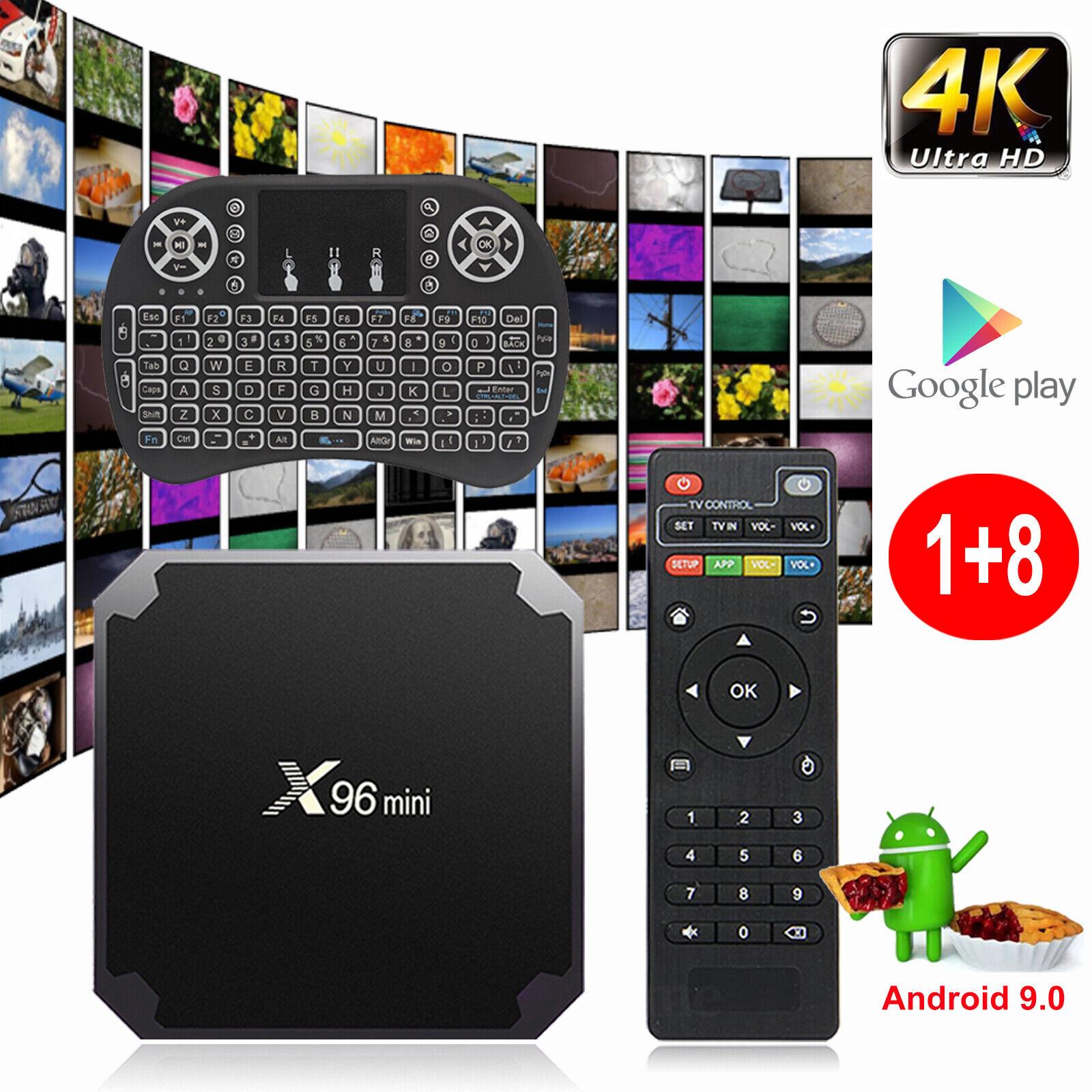 X96MINI Android 9.0 Pie Quad Core 4K UHD Smart TV BOX Amlogic H.265 3D Movies US