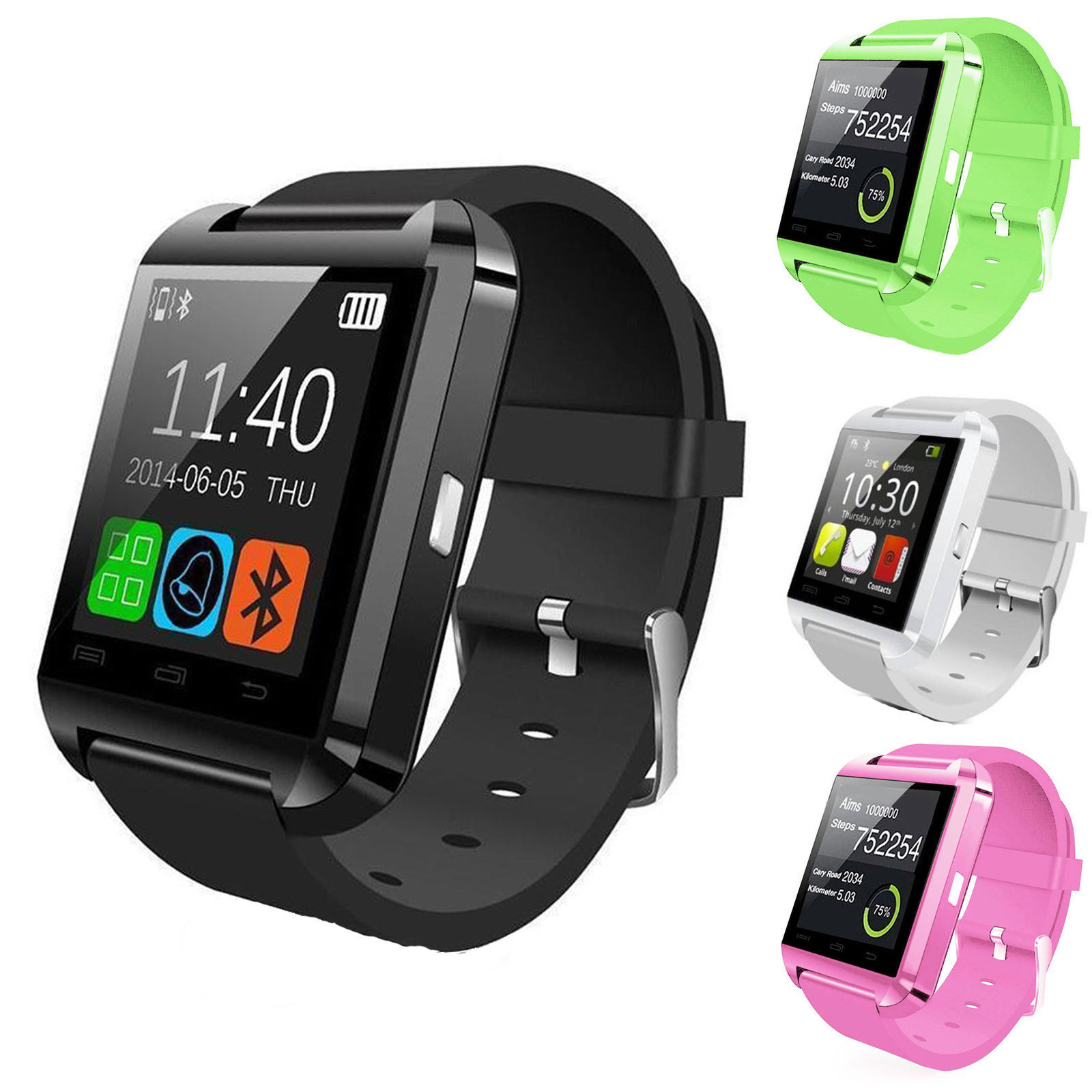 New Bluetooth Smart Wrist Watch Phone Mate For Android IOS Samsung iPhone LG Cell Phones & Accessories