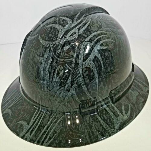NEW FULL BRIM Hard Hat custom hydro dipped GOLDBERG TRIBAL JACK HAMMER TATTOO 2