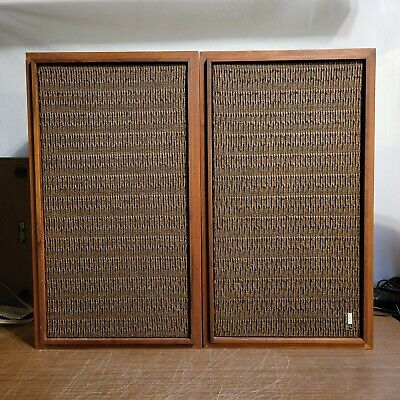"""Pair Vintage Fisher Model XP-7 Early 70""""s Speakers Tested Great Sound"""