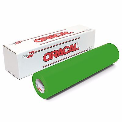 ORACAL 631 Adhesive Backed Matte Vinyl 12in x 10ft Roll - YELLOW GREEN
