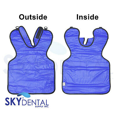 Blue Dental Medical X-ray Lead Apron Pedo Child With Collar Top Quality 20 X 20