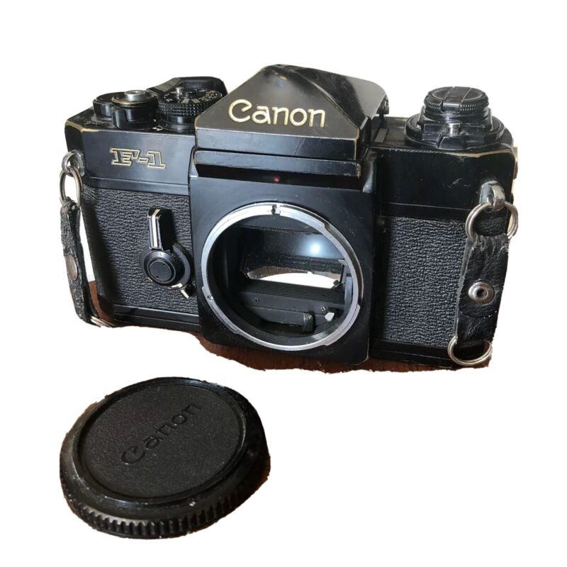 Vintage Canon F1 Film SLR Camera Body S/N 563392