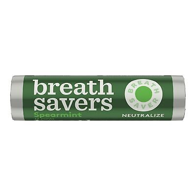 BREATH SAVERS Sugar Free Mints, Spearmint, 0.75 Ounce Roll (Pack of 24)