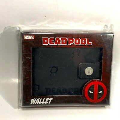 Marvel DEADPOOL Bullet Holes Black Bifold Wallet NEW BB Designs