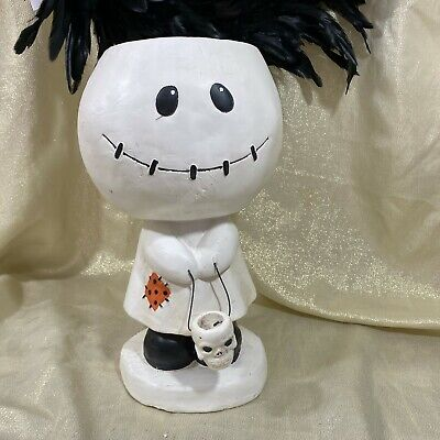 Halloween GHOST Figure Statue stand Up Extra Large Candy Bowl Figure New