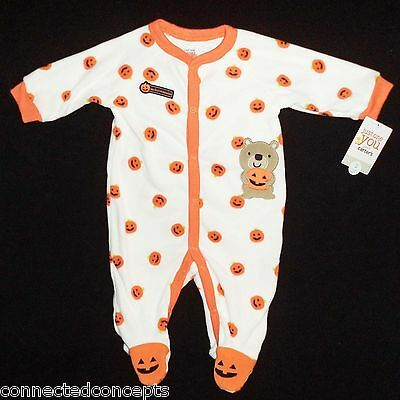 Carters First Halloween Infant Footed Sleeper Bodysuit (SIZES Newborn - 3 - Newborn First Halloween