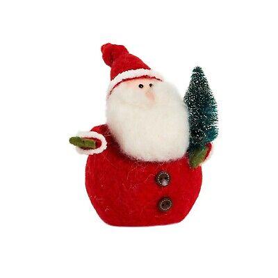 Santa Christmas Felt Standing Decoration 18cm High Sass and Belle - Brand New ()