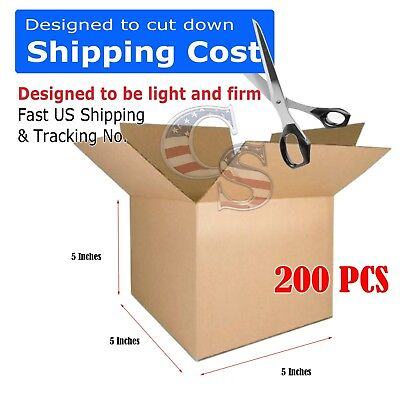 200 5x5x5 Cardboard Packing Mailing Shipping Boxes Corrugated Box Cartons 100