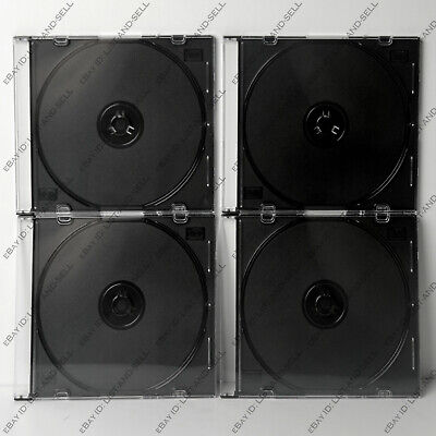 4 Pieces 7.2mm Slim Style Jewel Case Cases Cd Or Dvd New Free Shipping