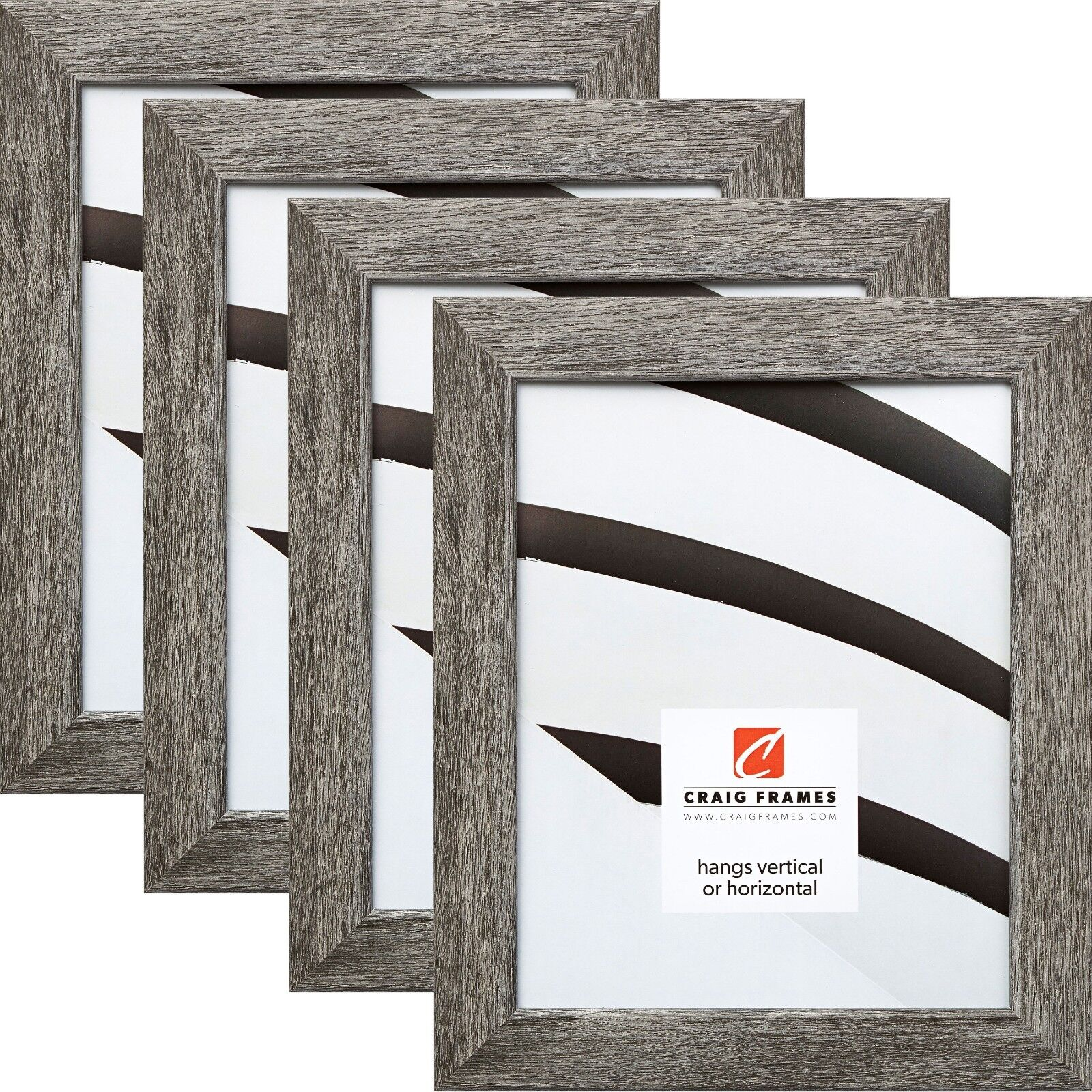 """US ART Frames 1/"""" Distressed Grey Barn Nugget Barn Wood Picture Poster Frame S-B"""