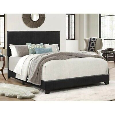 Bed Frame Queen Size Bedroom Faux Leather Headboard Upholstery Room Home Beds