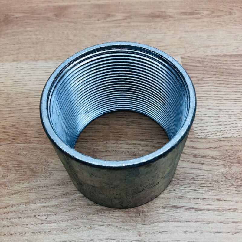 "UNBRANDED 3"" GALVANIZED MERCHANT COUPLING THREADED"