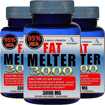 3 X Bottles Pure Garcinia Cambogia 3 000Mg 95  Hca Weight Loss Fat Burner Diet