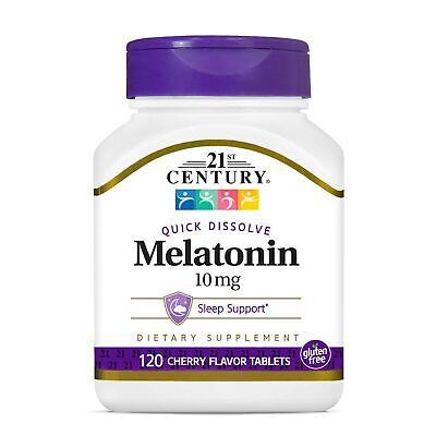 Tabletas De Disolucion Rapida De Melatonina Cereza 10 Mg 120 Count