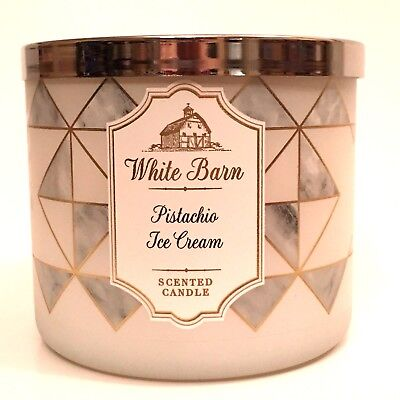 Ice Cream Scented Candle - BATH & BODY WORKS PISTACHIO ICE CREAM SCENTED 3-WICK LARGE 14.5 OZ FILLED CANDLE