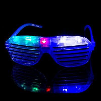Obturées Lunettes Illuminé Rave Fente Fête Brille Shades Fun (Led Brille Rave)