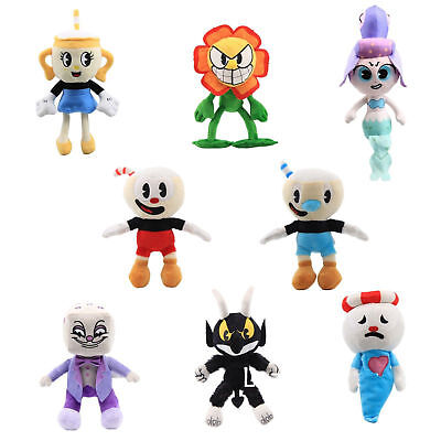 Cuphead & Mugman Ghost Chalice Devil Boss Dice Plush Figure Doll Toy BirthDay