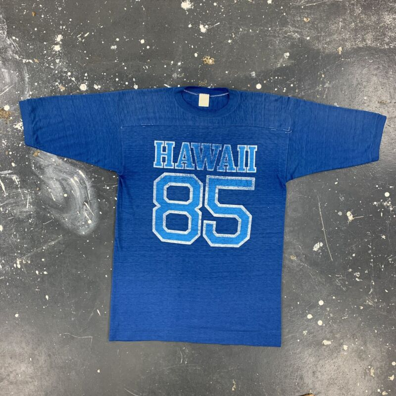 Hawaii Souvenir Jersey T Shirt Vtg 80s USA Faded Distressed Football 85