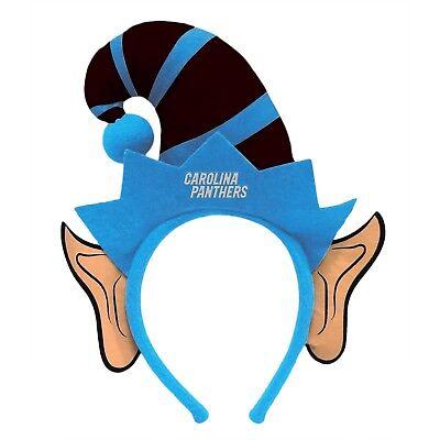 Carolina Panthers Elf Ears Headband Holiday Hat NEW! Christmas Santa Helper