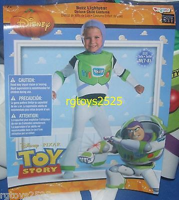Disney Toy Story Deluxe Buzz Lightyear Costume Size 7-8 M Med New Medium Childs ](Buzz Lightyear Deluxe Costume)