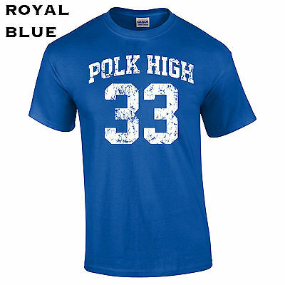 003 Polk High School Men T-Shirt football jersey costume funny tv show bundy](Tv Show Costume)