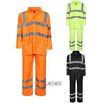 Hohe Sichtbarkeit Overall (Hohe Sichtbarkeit Orange-Gelb Schwarz Sichtbar Overall Jacke Hosen Wasserfest)