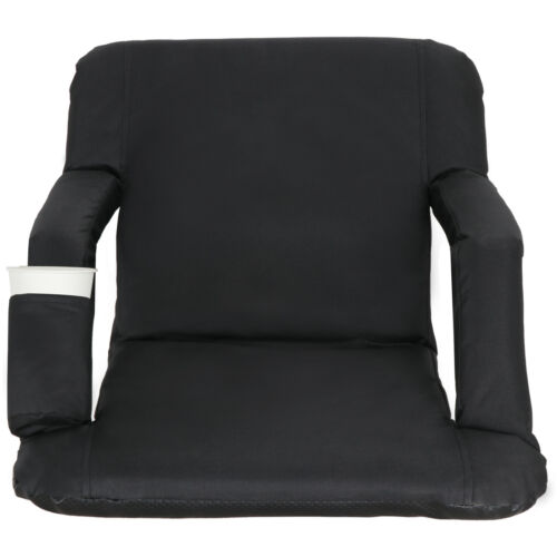 Easy Carry Stadium Seats Football Bleacher Chairs w/ Padded Cushion Backs Pocket Other Outdoor Sports