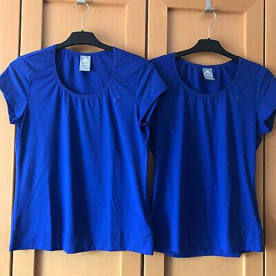 2 Adidas Damen Sport T-Shirts Climalite blau - Gr. M (38-40)