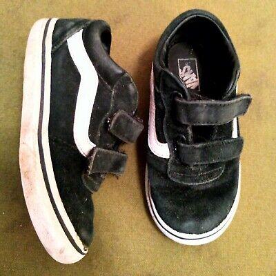Vans Black Toddler Boys Girls Trainers Shoes Size 8 UK Infant